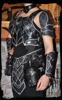women leather armor nightingale without corset by Lagueuse