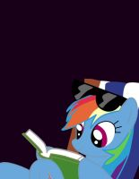 Rainbow Dash Reading by PaulySentry