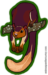 Acrylic charm- Indian giant squirrel by Animus-Panthera