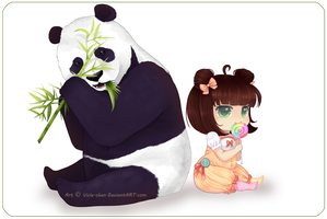Sweet panda:. by Vicle-chan