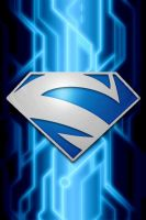 Superman Blue Circuit background by KalEl7