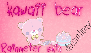 RAINMETER SKIN-Kawaii Bear by SkinsRainmeter