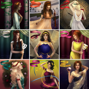 The Nine Muses by Limerry