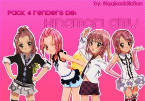 Pack 4 Renders de Hinamori Amu by FriqqixAddiction