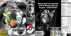 Pokemon Black and White Cereal by BlackManaBurning