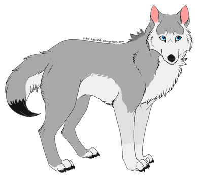 Angel - Wolf of Ice Age RP by Haiwan-Demor