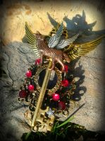 Winged Majesty Fantasy Key by ArtByStarlaMoore