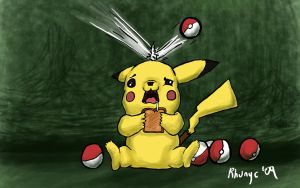Pikachu who cannot be caught by Rhunyc