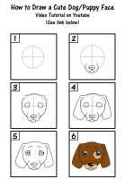 How to Draw a Cute Puppy Dog Face by SavannaW