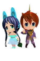 MMD nendoriods Tonio and Prima Link by Pikadude31451