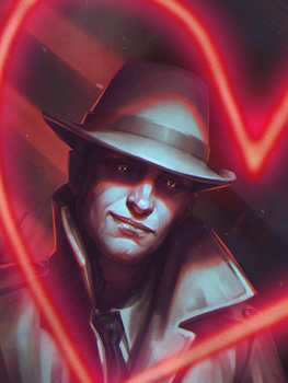 Nick Valentine_portait by inSOLense