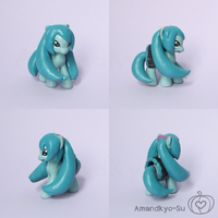 Miku Hatsune Blind Bag Custom Pony by Amandkyo-Su