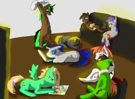 Group sleep over by goina