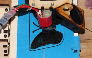 Printrbot Printing a Butterfly by fractalfiend
