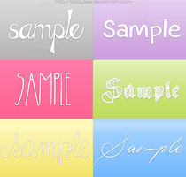 Font Pack by DDAysSS