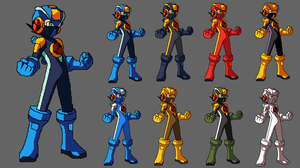 Simple megaman exe palette by Methiou