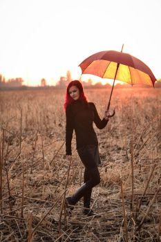 umbrella with lights by ginger-muffin