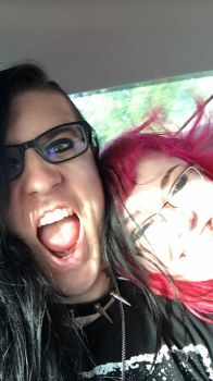 Fooling around in the car by LilithAnael