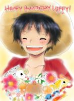 Happy Birthday Luffy - 2012 by HurricaneHoshi