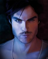 Vampire Diaries.Damon. by Quackamos