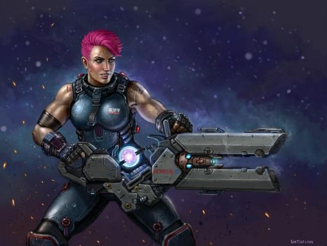 Overwatch - Zarya by SirTiefling