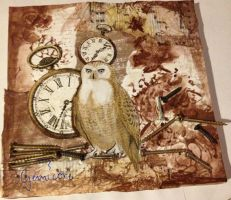 Mixed media nr 2: Steampunk OWL by Gemicore