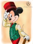 Mickey Tophat by colourfulAnatomy