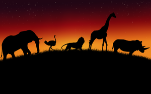 African Animals Wallpaper V2 by Lukasiniho