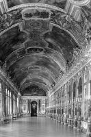 France palace of versailles mirrors galery 1970s by BlackWhitePictures