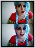 Jinx cosplay test by Anastasia-Komori