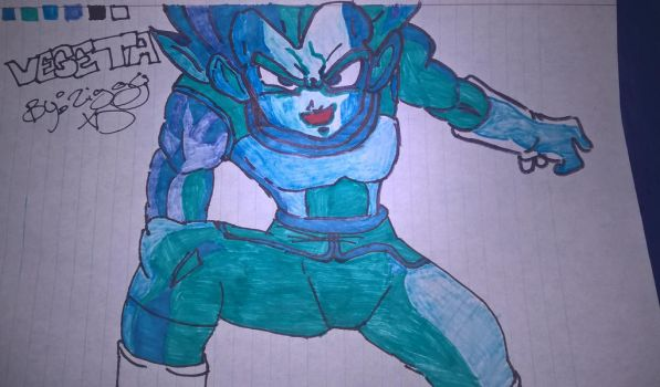Vegeta Super Sayain Blue by ZiggyXD