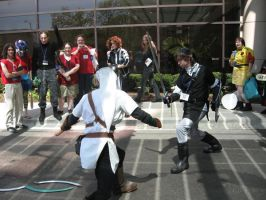 Link Fight - Oops ._. by Azure-Rose-Cosplay