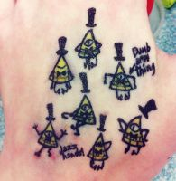 Bill Ciphers (Hand Art 10) by 9RavenHunter9
