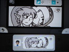 Miiverse - Link and Ghirahim by MAST3RLINKX