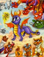 Spyro the Dragon by polar27