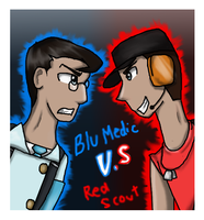 Blu Medic Vs Red Scout Fin by Honey-PawStep