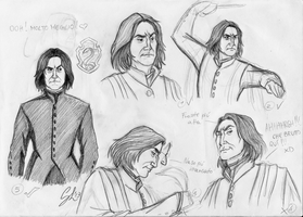 Severus Snape - study 1 by giulal