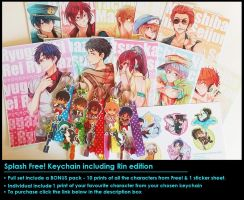 [NEW] Splash Free! Keychains by Porukachii