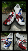 Venom and Carnage Shoes: Pt 2. by Skissored