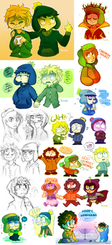 South Park stuff by ivymaid