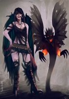 Demon Lilith Steels and Gypsy the Shadow by oshirockingham