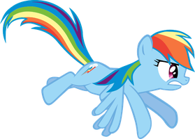 sit there and do nothing Rainbow Dash :Vector: by Dan-Shattered-Heart