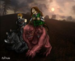 STALKER Debt and Monolith riding on mutants by Melhmon