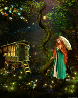 Enchanted Forest Butterfly by Lucinhae