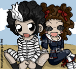 Sweeney Todd and Mrs. Lovett by amy-art