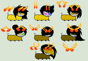 .:Homestuck:. YELLOW BLOODED GRUB ADOPTS [CLOSED] by sp00kies