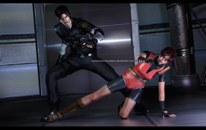 #Remake Claire x Leon by DemonLeon3D