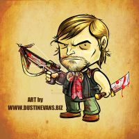 Daryl Dixon from The Walking Dead chibi version by DustinEvans