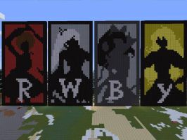 RWBY Silhouettes in Minecraft by picviewer10