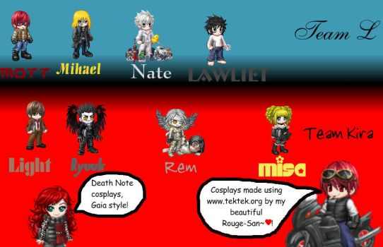 Death Note cosplays on Gaia by Rouge-Taiashi